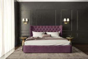 Κρεβάτι Capitone Magenta