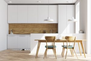 White and wooden kitchen